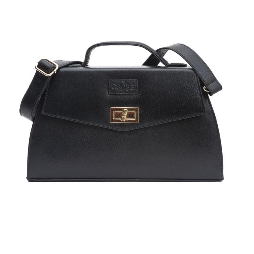 Goose Midi Ladies Handbag Black