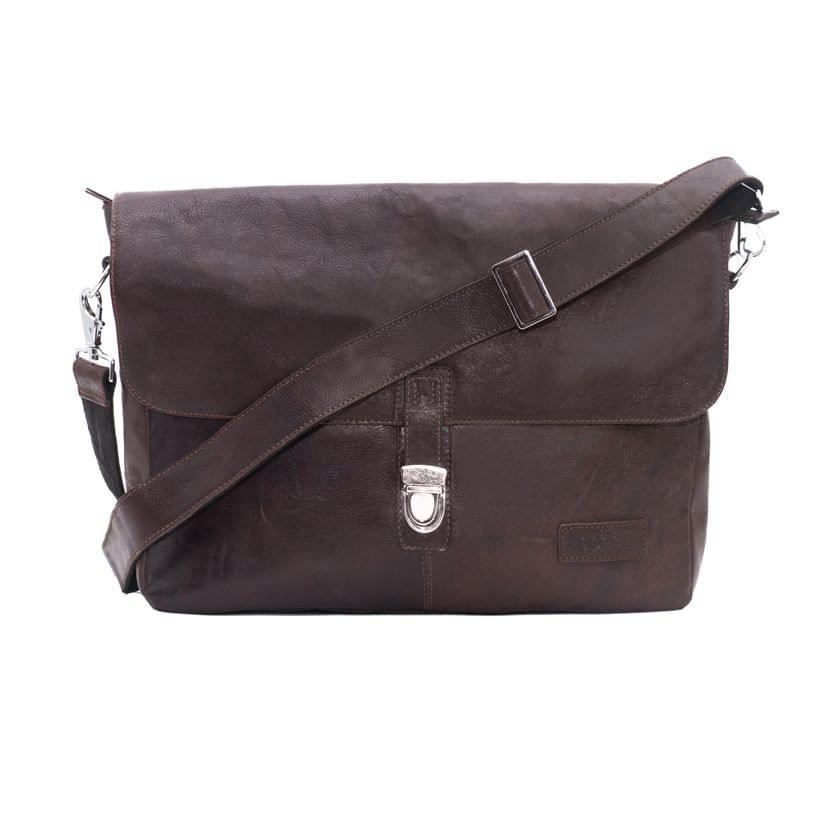 Single Loop Every Day Satchel Bag Brown