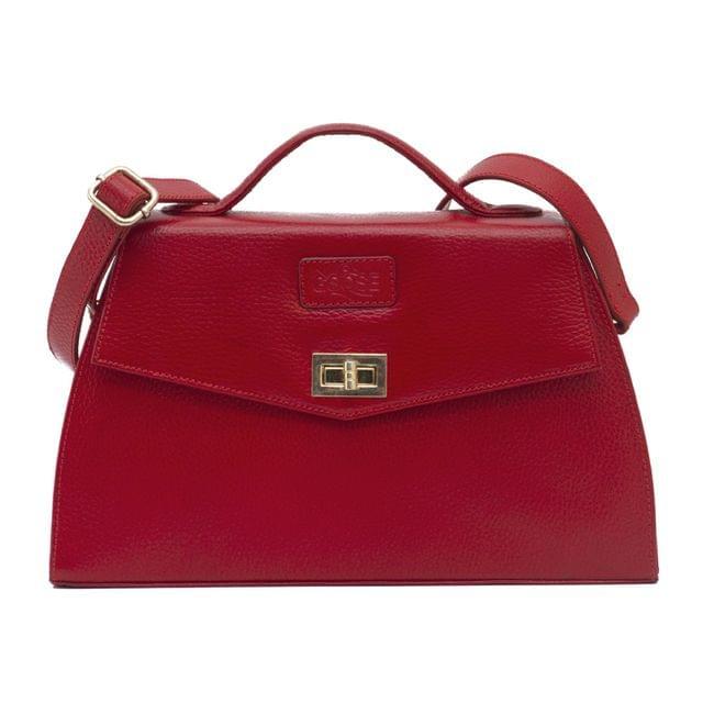 Goose Midi Ladies Handbag in Red