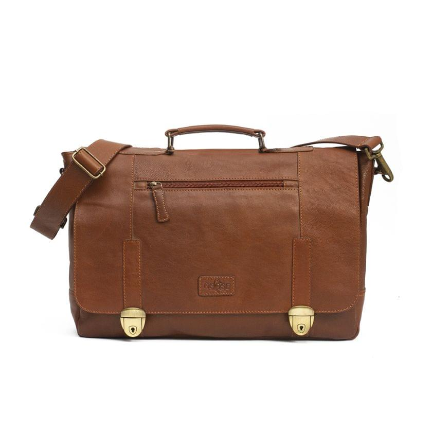 Goose Signature Messenger Bag for Men Brown