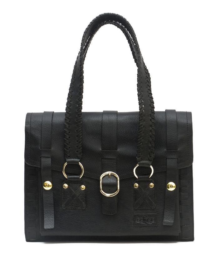 Handcrafted Ladies Satchel Bag Black