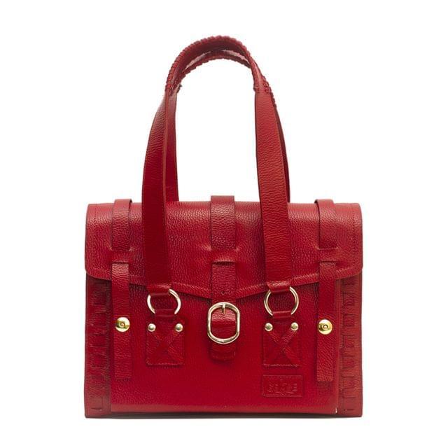 Handcrafted Ladies Satchel Bag Red