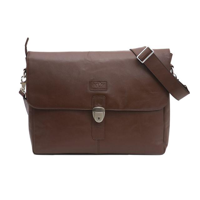 Single Loop Everyday Satchel Bag Dark Brown
