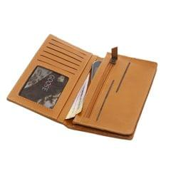 Long Wallet with Mobile Holder in Mustard