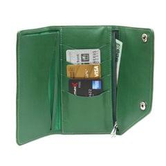 Large Tri fold wallet - Green