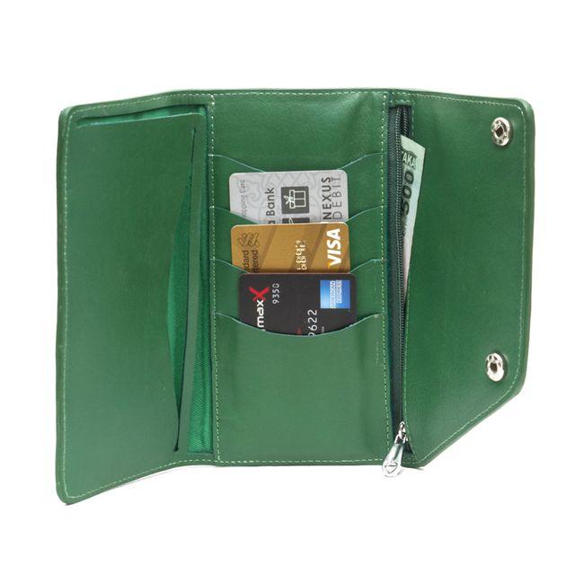 Large Tri fold wallet - Green