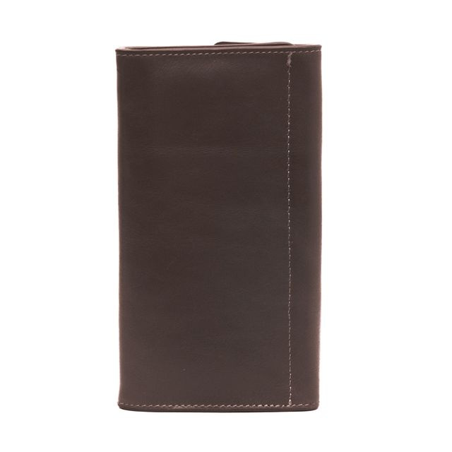 Large Tri fold wallet- Brown