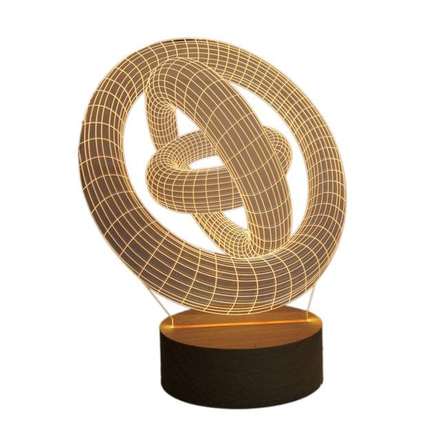 3D Acrylic Table Lamp Light, Modern Art Illusion Design