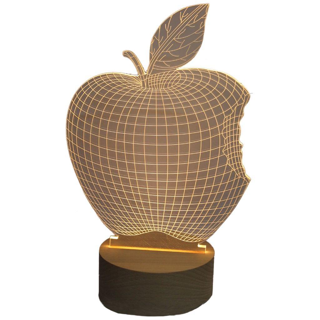 3D Acrylic Table Lamp Apple Design