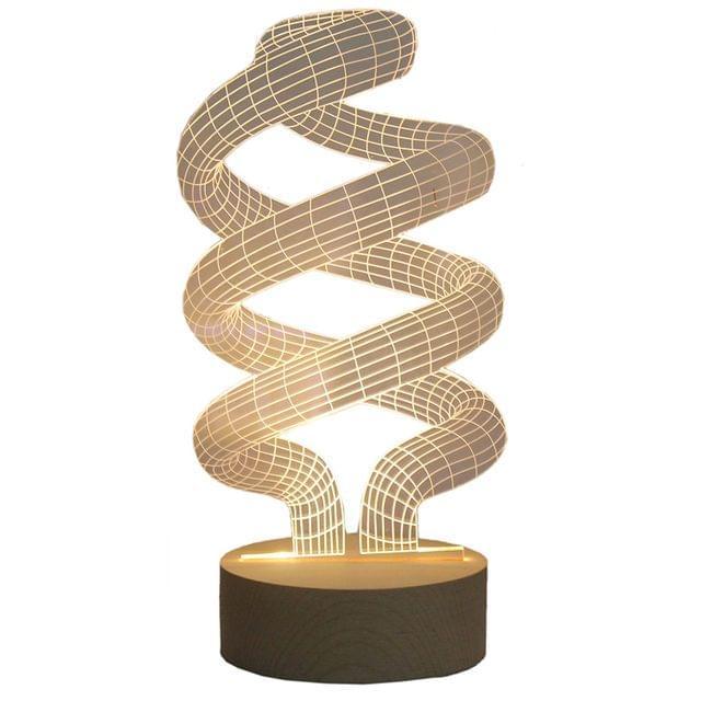 3D Acrylic Table Lamp Filament Design