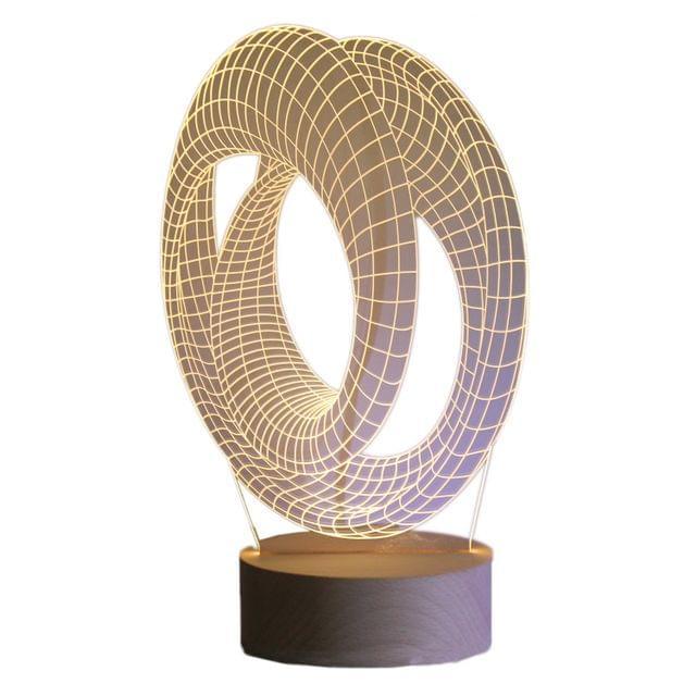 3D Acrylic Table Lamp Modern Art Design