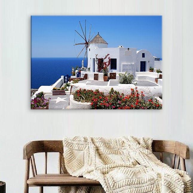 Beautiful Greece Framed Canvas Print