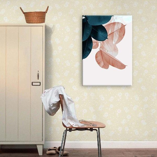 Transparent Leaves Stretched Canvas Print