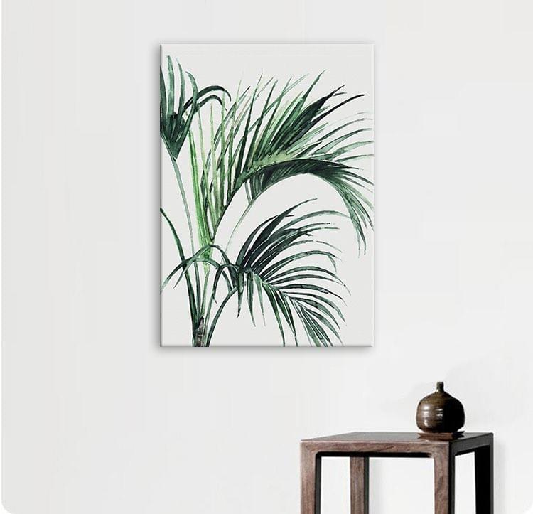 Soothing Palm Plant Framed Canvas Print