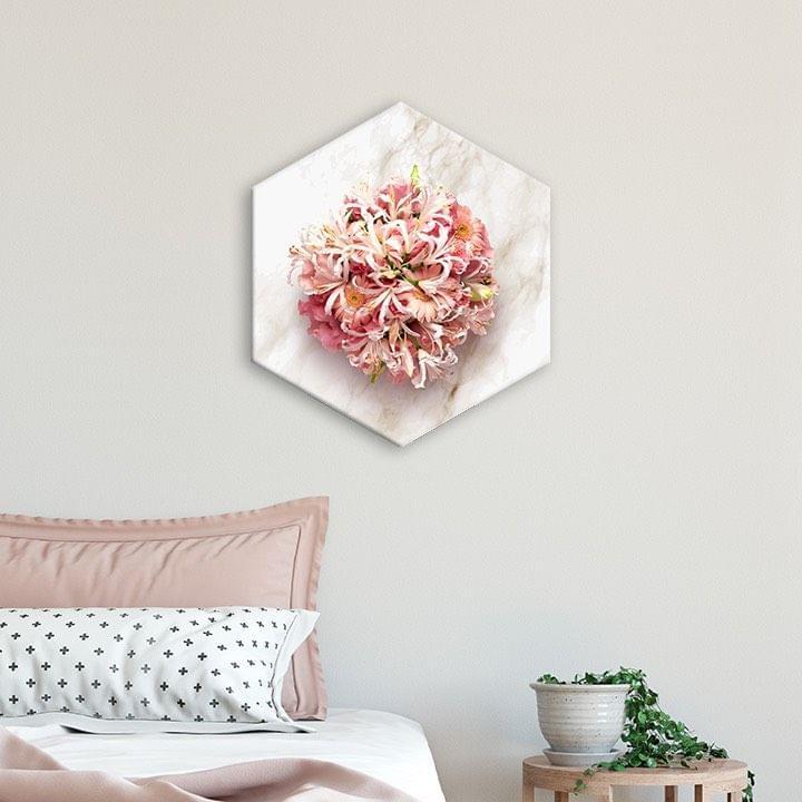 Flower Bouquet Framed Canvas Print