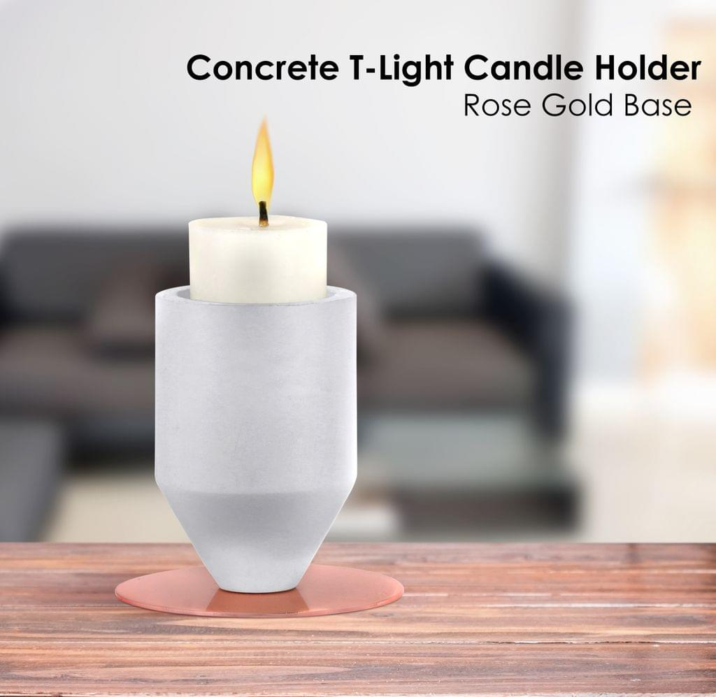 Rose Gold Base Candle Holder Small