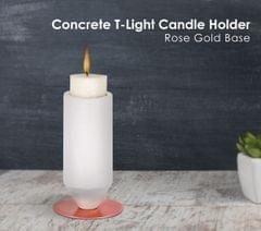 Rose Gold Base Candle Holder Big