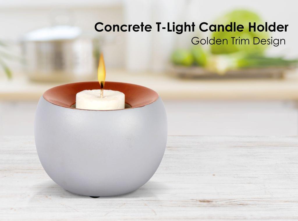 Candle Holder Golden Trim