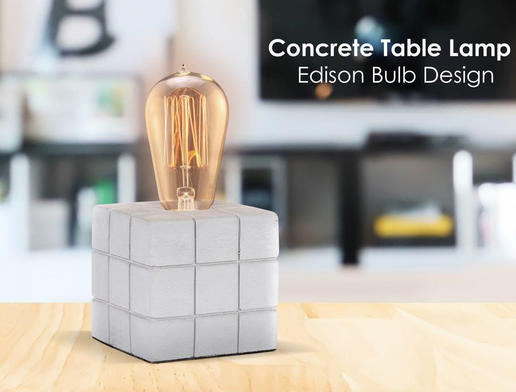 Rubens Cube Concrete Table Lamp