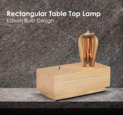 Acacia Wood Vintage Switch Table Lamp