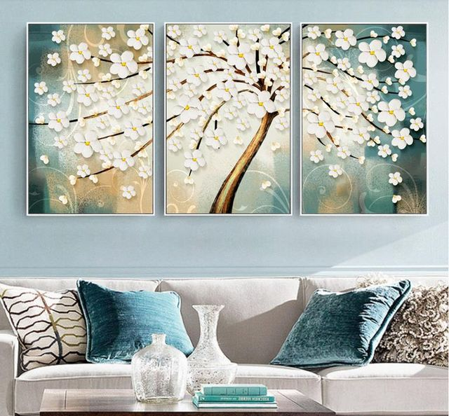 3 Panel Tree of Life Framed Canvas Wall Art