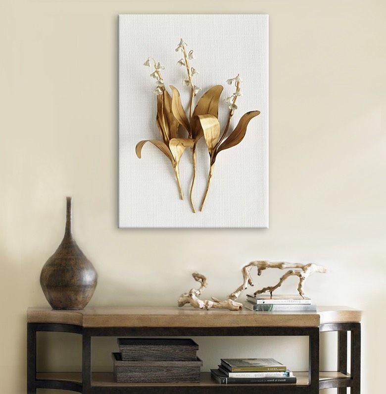 Golden Leaves Framed Canvas Print