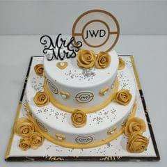 2 Tier Elegant Wedding Cake