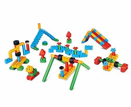 Hape Polym Adventure Playground Kit Building Blocks (110 Piece), Multicolor