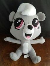 Littlest Pet Shop 6 Inch Plush Pet Pepper Clark Skunk  (Grey)