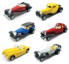 Tickles Pull Back Mini Metal Alloy Vintage Vehicle Car
