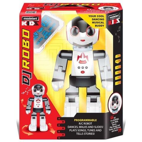 Modelart Kids Programmable Walking, Dancing DJ Robo R/C Robot, Multi Color