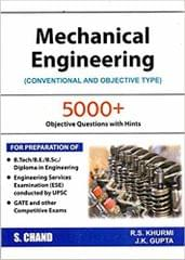 Mechanical engineering-books: Conventional and Objective Types (2018-19 Session)