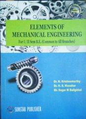 Elements of Mechanical engineering-books , for I &II semester B.E. (common for All Branches)