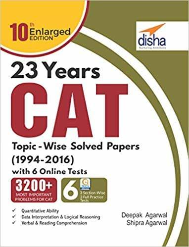 23 years CAT TopicWise Solved Papers (19942016) with 6 Online Practice Sets