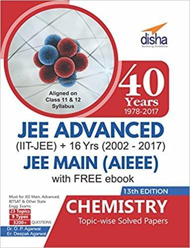 40 Years IITJEE Advanced + 16 yrs JEE Main Topicwise Solved Paper Chemistry with Free eBook