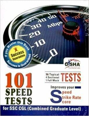 101 Speed Tests for SSC Combined Graduate Level 1st Edition