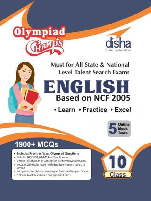 Olympiad Champs English Class 10 with 5 Mock Online Olympiad Tests
