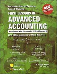First Lessons in Advanced Accounting for CA Intermediate [IPCC] Group II May & Nov. 2018 Exam