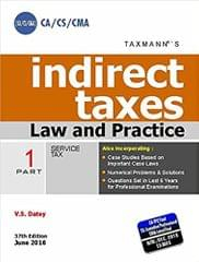 Indirect Taxes - Law and Practice 2016