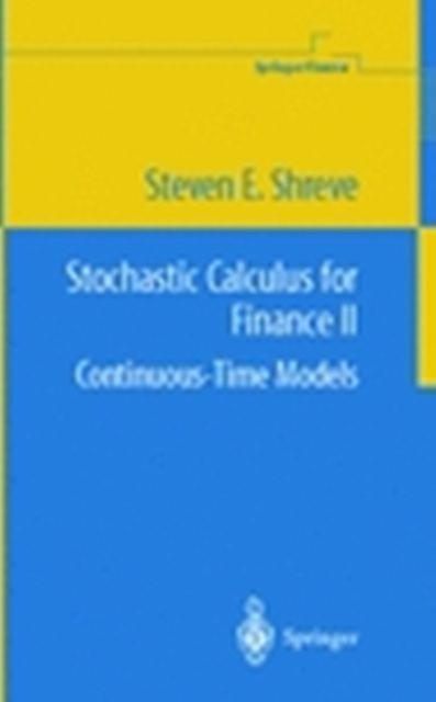 Stochastic Calculus for Finance ll Continuous  Time Models