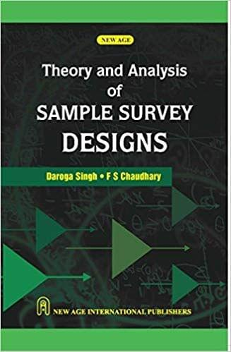Theory and Analysis of Sample Survey Design