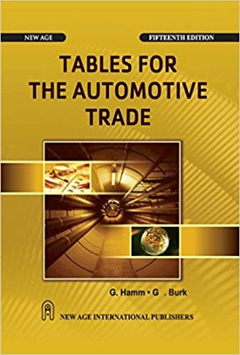 Tables for the Automotive Trade