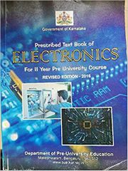 Prescribed Text book of Electronics Second puc Book