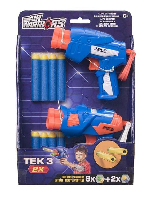 Buzz Bee Air Warriors Tek 3 Blaster (Pack of 2), Multi Color