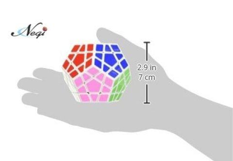 Negi Qi Yi Megaminx White Base Speed Cube Magic Puzzle Cube (Megaminx)