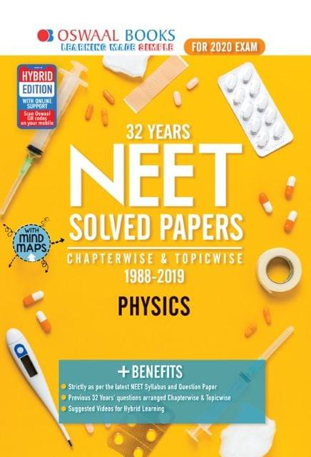 Oswaal NEET Question Bank Chapterwise & Topicwise Physics Book (For March 2020 Exam)