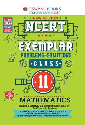 Oswaal NCERT Exemplar (Problems - solutions) Class 11 Mathematics Book (For March 2020 Exam)