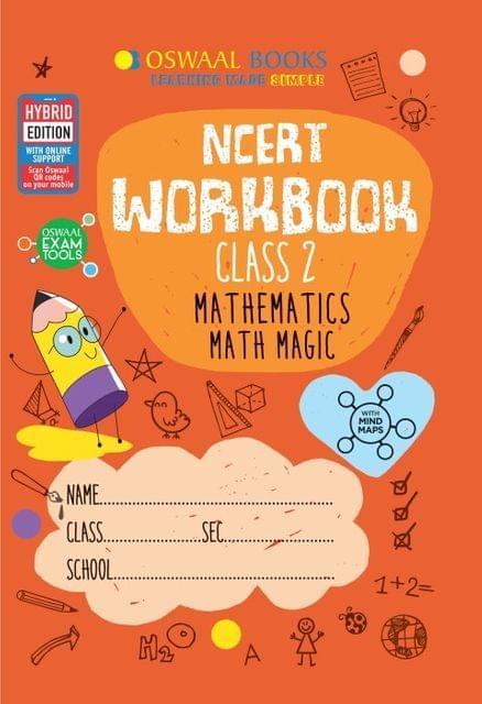 Oswaal NCERT Workbook Class 2 Mathematics Math Magic Book