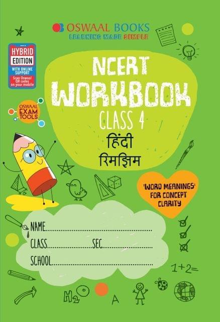 Oswaal NCERT Workbook Class 4 Hindi Rimjhim Book