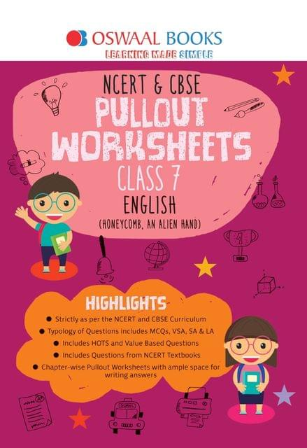 Oswaal NCERT & CBSE Pullout Worksheets Class 7 English Book (For March 2020 Exam)